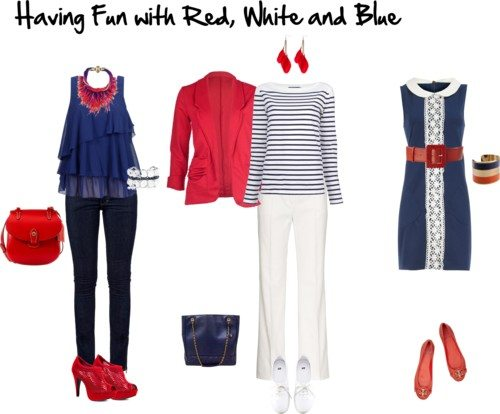 dressing in red white and blue