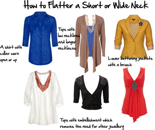 How to Flatter a Short or Wide Neck