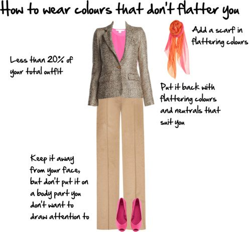 how to wear unflattering colours