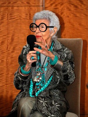 Iris Apfel Accessorises boldly with heroes