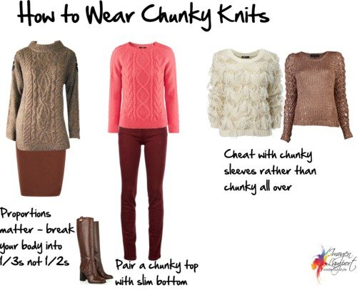 how to wear chunky knits