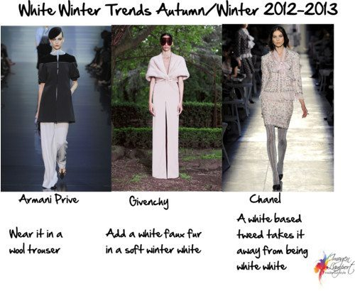White winter fashion trends 2012-1013