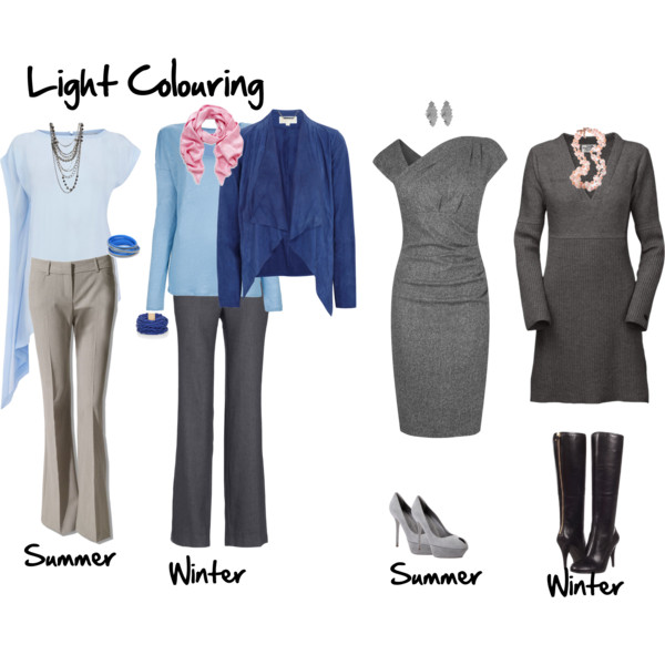 What to wear through the seasons when you have light overall colouring - or a light ideal value