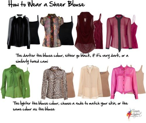 How to wear a sheer blouse