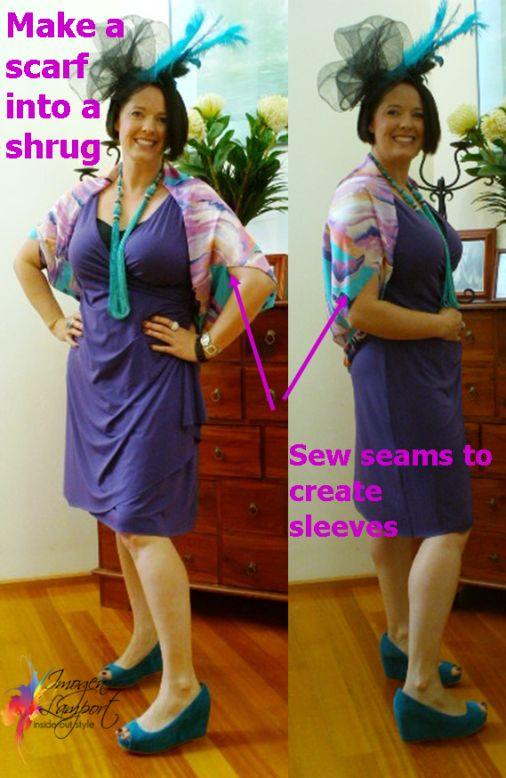 How to Make a Shrug from a Square Scarf