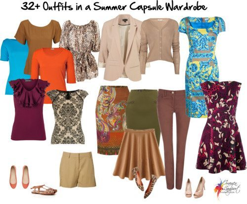 Summer Wardrobe Capsule in Warm Colours