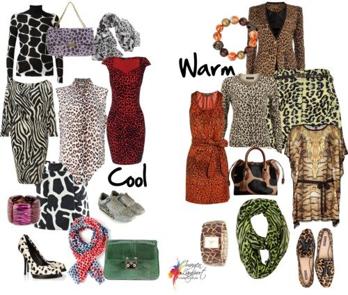Animal prints - cool or warm