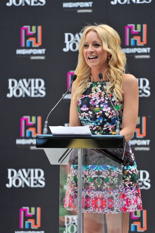 Carrie Bickmore opened the new Highpoint