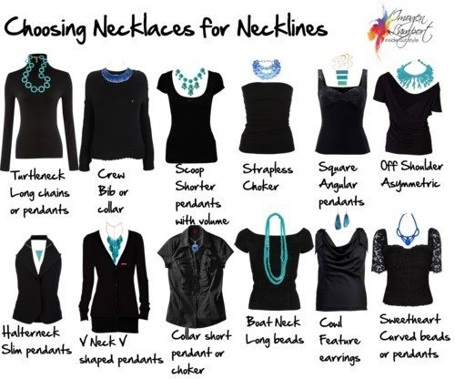 How to Choose a Necklace to Work with Your Neckline