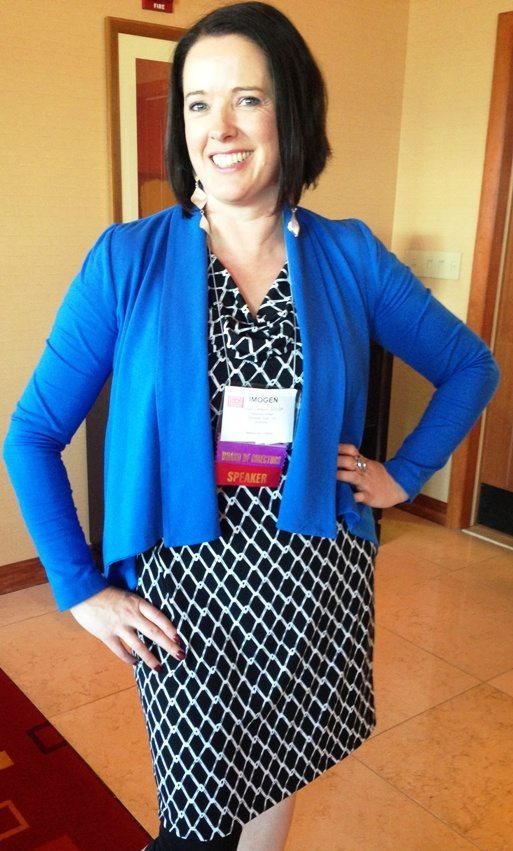 Wearing my Verily.com.au dress at the AICI Conference