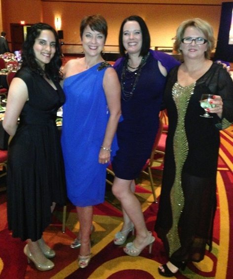 Zayna Mosam (Toronto Canada) with Clare, me and Jo (the Aussie Possie) at the AICI Gala Dinner