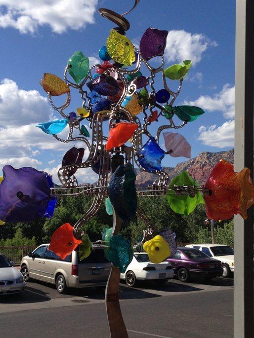 Amazing glass weather vane in Sedona