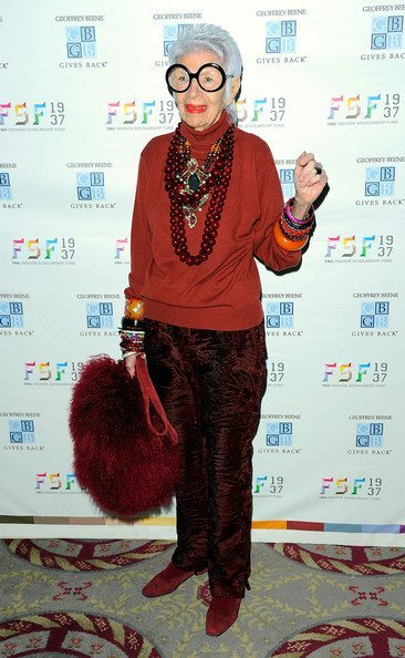 Iris Apfel always accessorizes