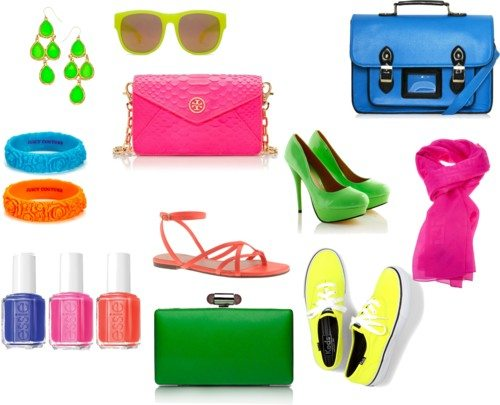 How to Wear Neon Colours