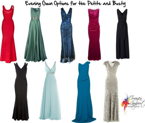 evening gowns petite and busty