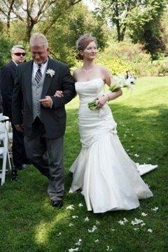 Bridgette on her wedding day