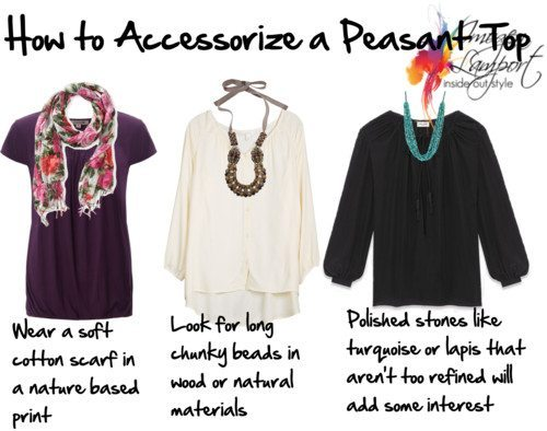 How to Accessorize a Peasant Top