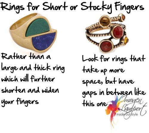Rings for Short or Stocky Fingers