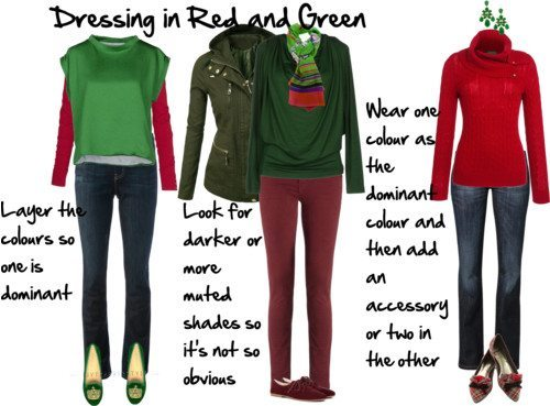 Dressing in Red and Green