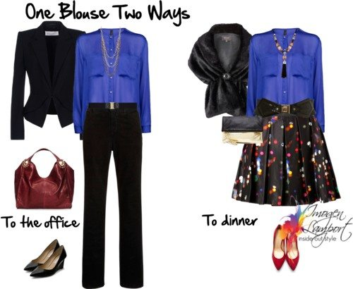 One Blouse Worn Four Ways