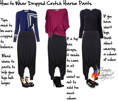 How to Wear Extreme Drop Crotch Harem Pants