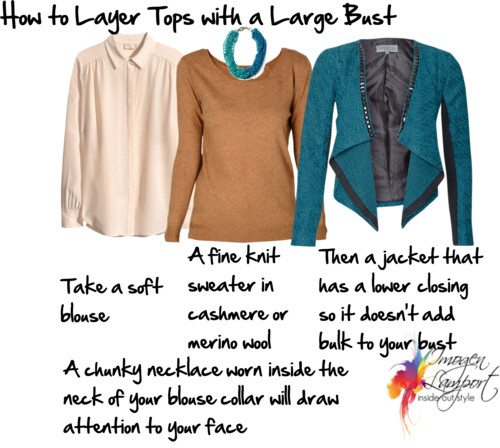 How to Layer Tops with a Large Bust