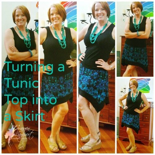 Turning a Tunic Top into a Skirt