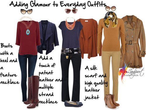 Adding glamour to everyday outfits