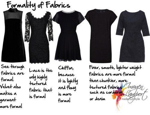 formality of fabrics