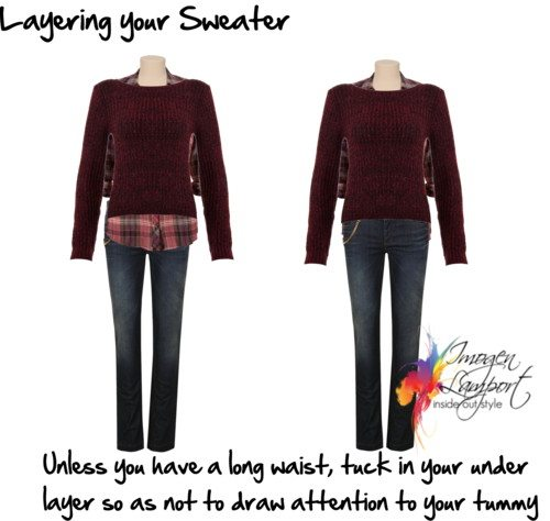 layering your sweater