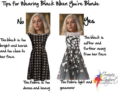 tips for wearing black when you're blonde