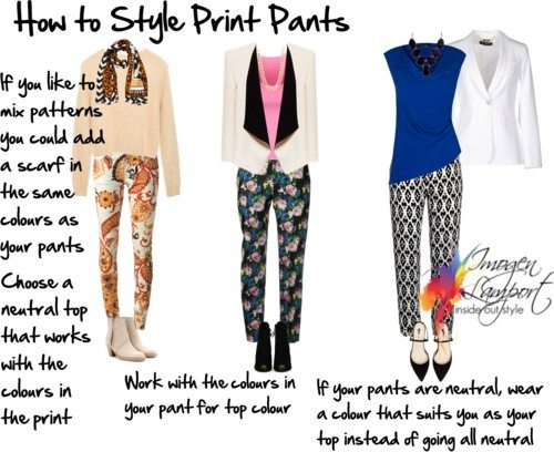 how to style print pants