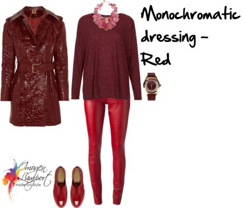 monochromatic dressing in red