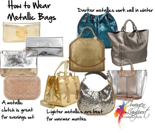 how to wear metallic bags