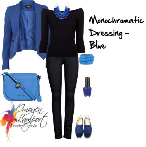 monochromatic dressing in blue