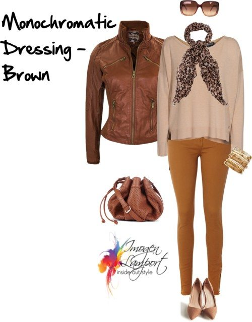monochromatic dressing in brown