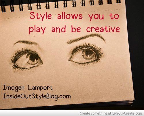 Style Allows Creativity