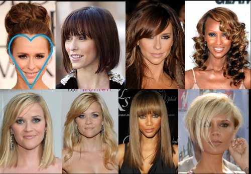 Best Hairstyles for Your Face Shape – Heart Shape