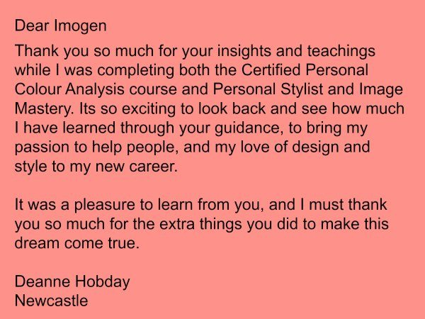 Personal Stylist training testimonial Academy of Professional Image