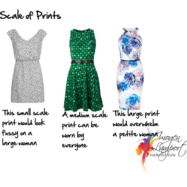 How to choose the scale of prints to flatter your features