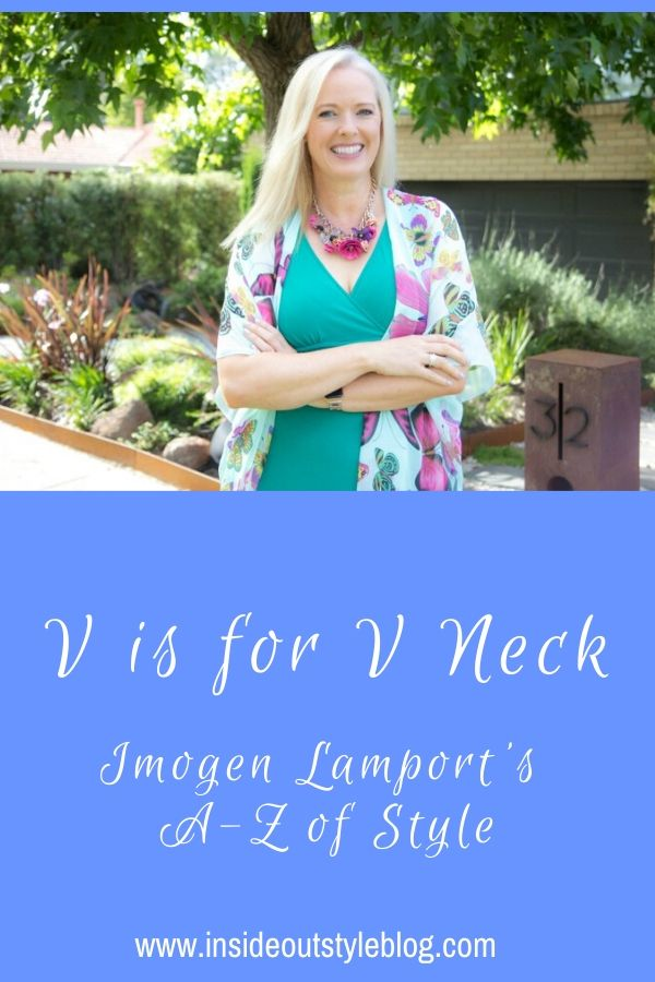 V is for V neck - how to choose the most flattering v neckline for your face and body shapes