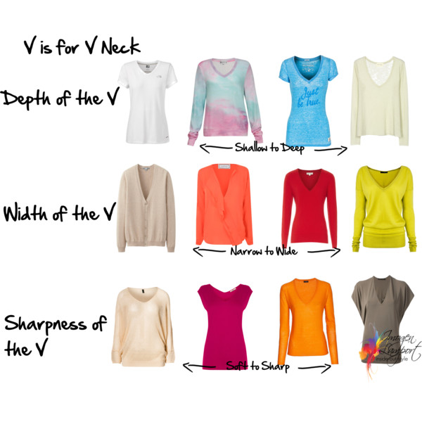 V neck tops - how to choose the right neckline