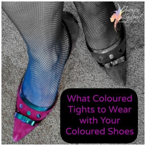 coloured shoes what colour tights