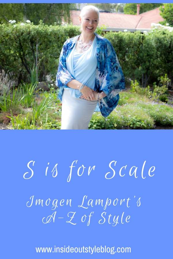 S is for Scale - Imogen Lamport's A-Z of Style - Scale is an illusion technique you can use to make areas of your body appear larger or smaller
