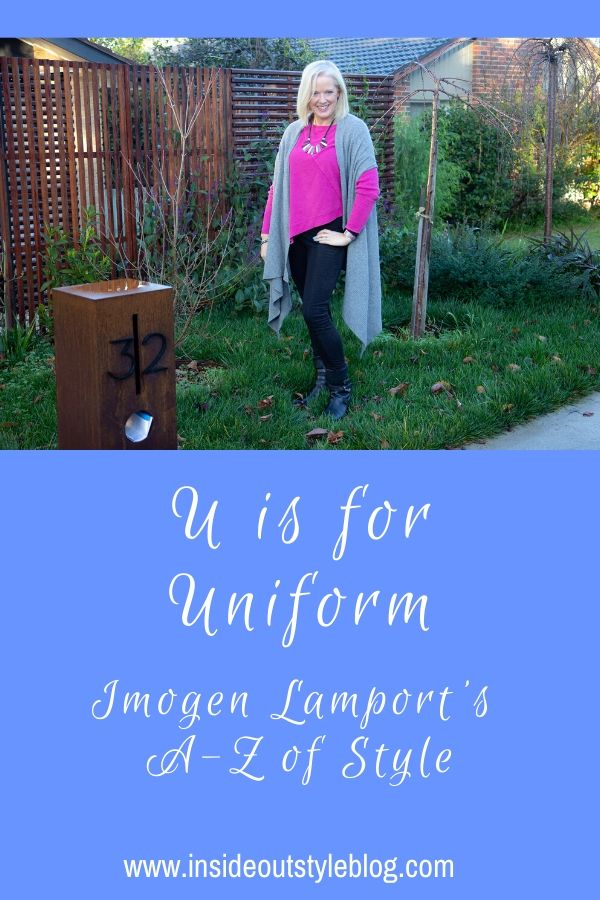 U is for Uniform - creating and defining your own personal style uniform