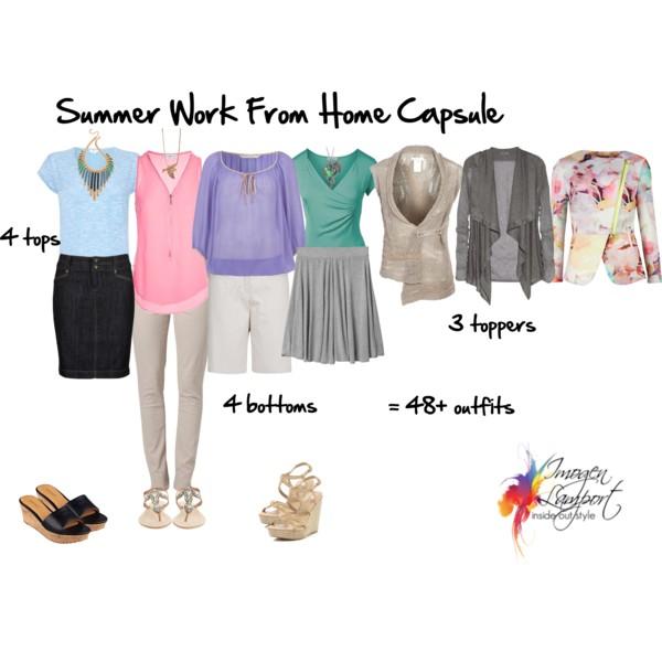 Work from home summer wardrobe capsule