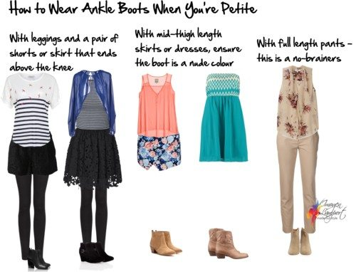 How to Wear Ankle Boots When You're Short