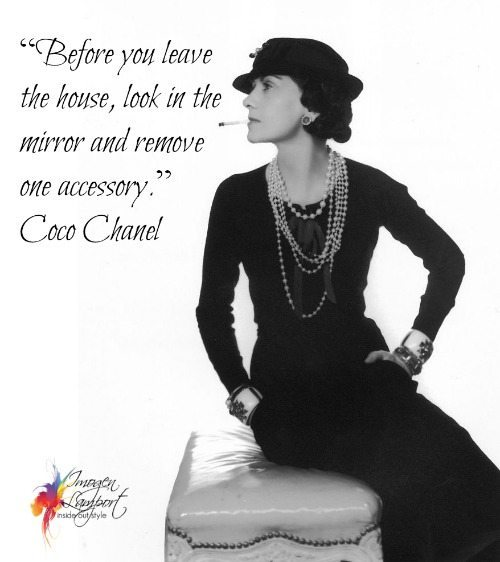 Coco Chanel Quotes About Accessories. QuotesGram