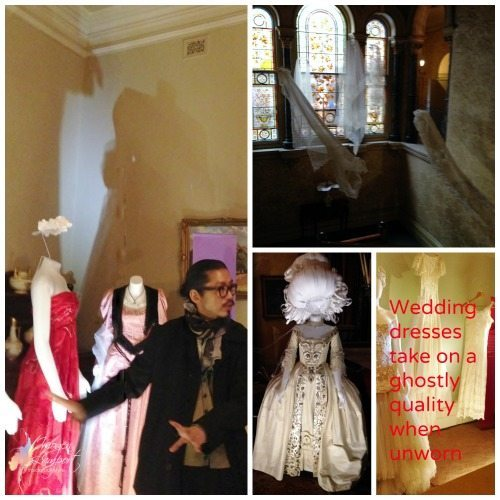Ghostly wedding dresses