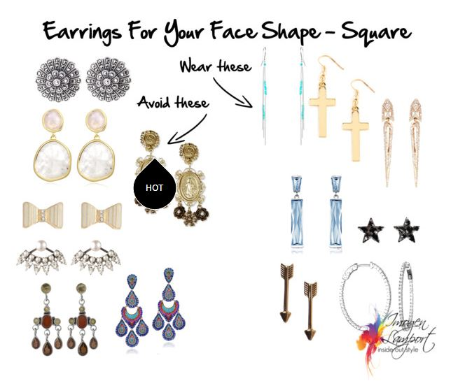 how to take out starter earrings choosing earrings that suit your square shape 9027